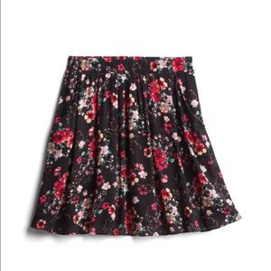 French Grey Alana Floral Skirt with Pockets